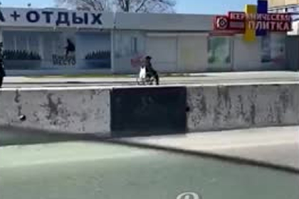 Погоня российского полицейского за инвалидом-колясочником попала на видео