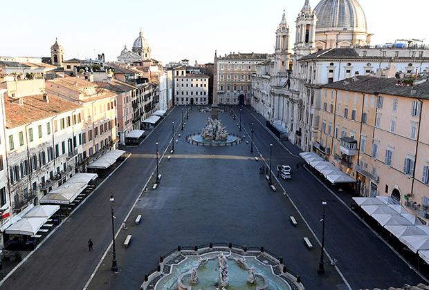 Улицы Италии опустели из-за коронавируса