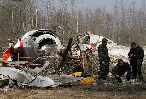 Обломки польского Ту-154М в Смоленске