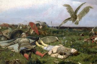 Картина В. Васнецова «После побоища Игоря Святославича с половцами»