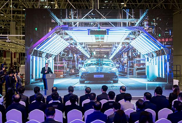 Открытие завода Tesla в Шанхае в январе 2020 года