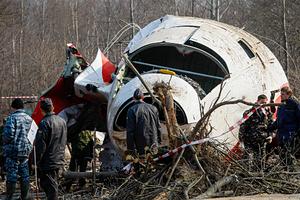 Место крушения польского Ту-154М в Смоленске