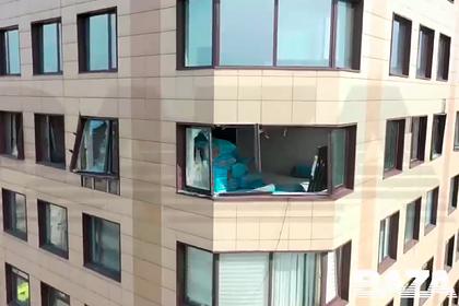 Появилось видео с места взрыва в московском бизнес-центре