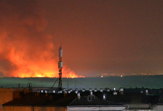 Пожар в ангарской ИК-15