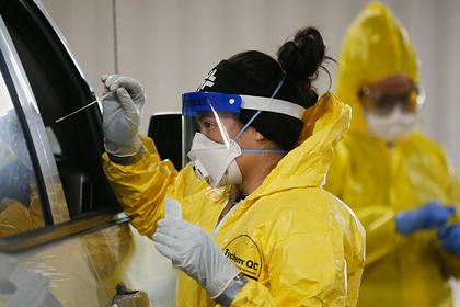 В США резко сократилось количество проводимых тестов на коронавирус