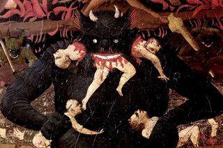 Фрагмент картины Фра Анджелико «Страшный суд»