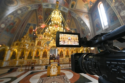 В российской церкви напали на журналистов во время литургии