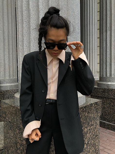 Российский блогер, стилист и соосновательница винтажного магазина MYTRENDYGRANDMA Бая Горбунова
