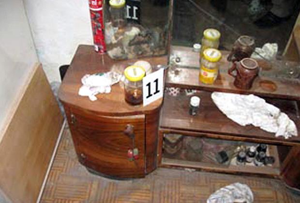Предметы, найденные при обыске в доме Владо Танески