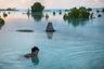 «Когда я попал в Кирибати, я каждый день видел, как во время приливов затопляются целые деревни. В домах родители привязывают детей за ноги к тяжелым предметам, чтобы они не упали вниз и не утонули. В традиционных постройках, стоящих на столбах, вода часто доходит до уровня пола и даже попадает внутрь. Пару лет я уже снимаю подобные изменения климата, и у меня, конечно, нет сомнений, что это действительно сейчас происходит», — говорит Влад Сохин.  Пейа Карарауа (Peia Kararaua) плывет по затопленному участку деревни Аберао, расположенной на атолле Тарава, в Кирибати. Кирибати — одна из стран, которая серьезно пострадала от подъема уровня моря. В высокий прилив многие деревни оказываются затопленными, и большая часть поселений становится необитаемой. Жители пытаются строить стены или следить за ограждениями, построенными правительством, однако волны разрушают их, представляя угрозу жилым домам и садам.