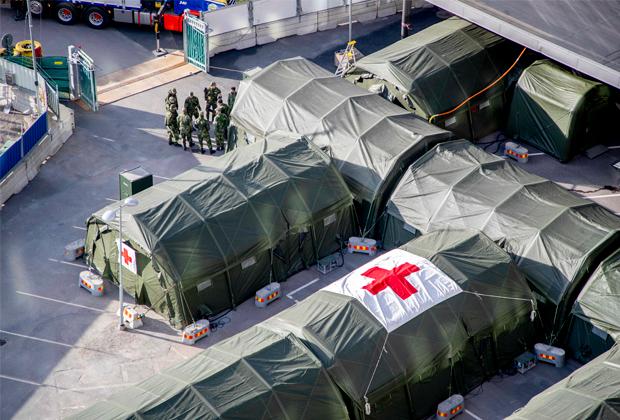 Большие полевые госпитали в Гётеборге