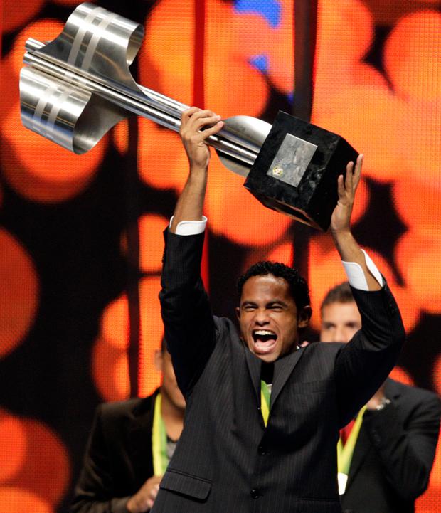 Бруно — с кубком чемпиона Бразилии
