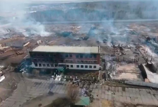 Последствия пожара в ИК-15
