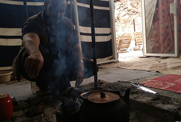 На бедуинском кочевье