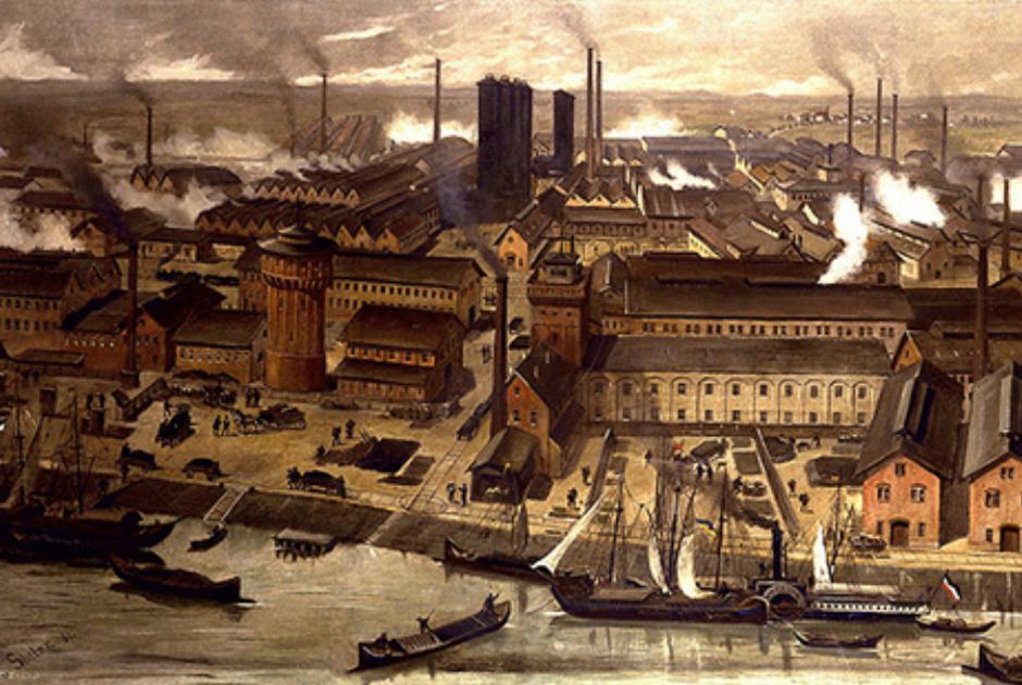 Химические заводы BAFS в Людвигсхафене, Германия, 1881 год