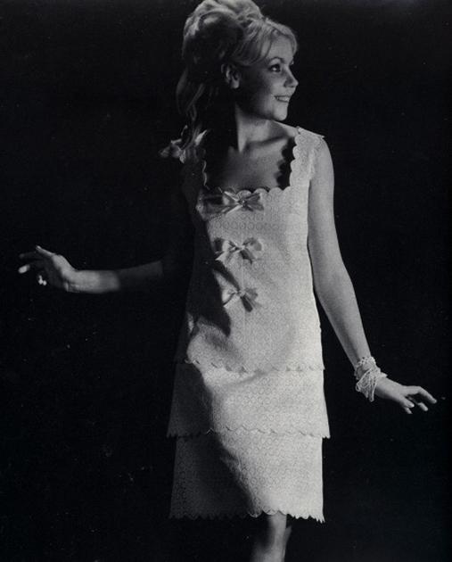 Мила Романовская в съемке для «Журнала Мод», 1967 год
