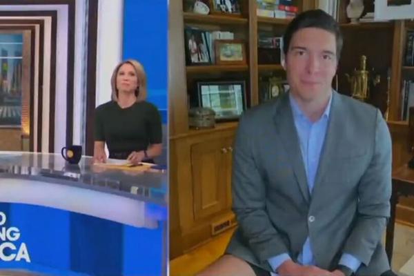 Журналист вышел в прямой эфир без штанов