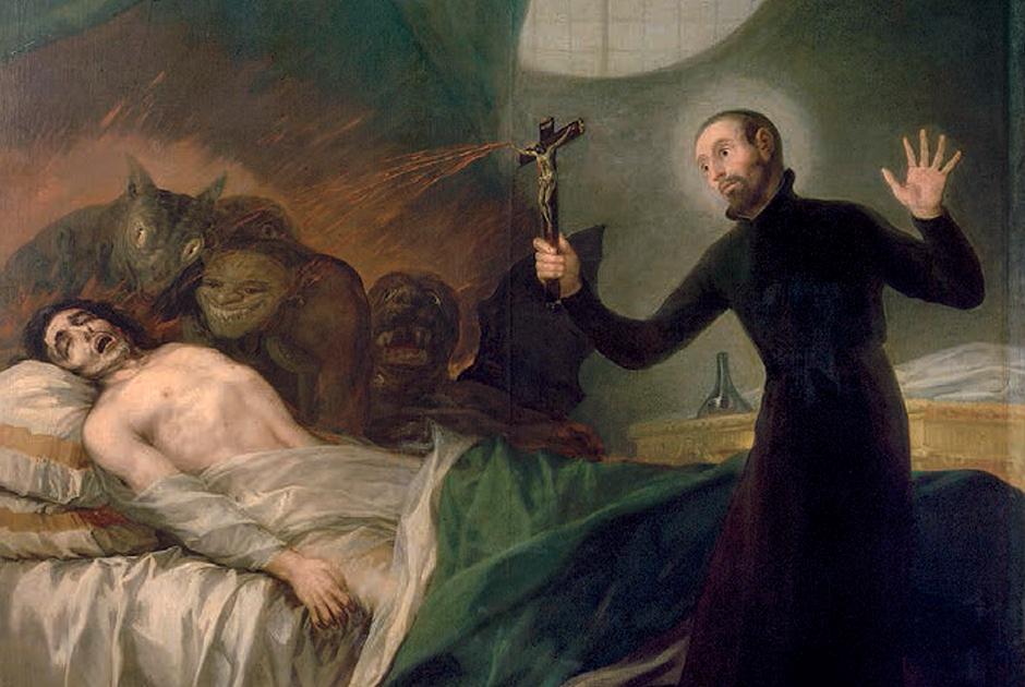Франсиско Гойя. «Святой Франциск изгоняет демонов»