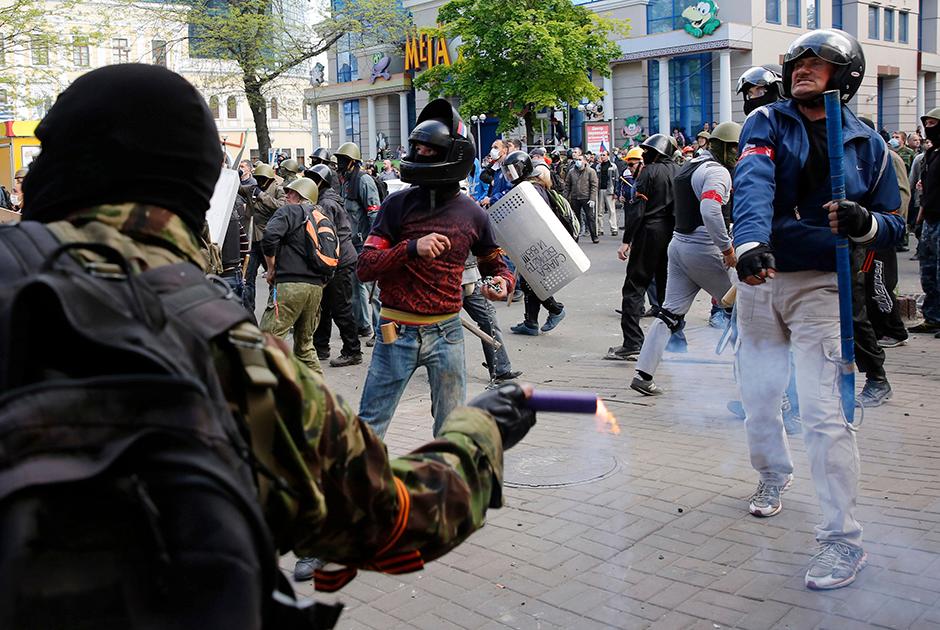 Столкновения на Греческой площади Одессы