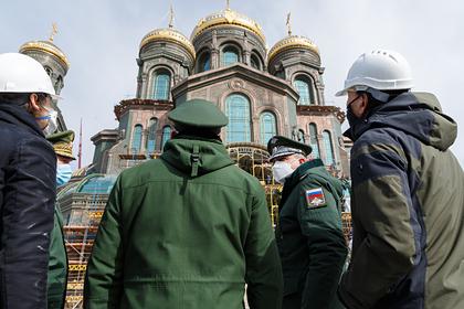 Мозаику с Путиным убрали из храма Минобороны