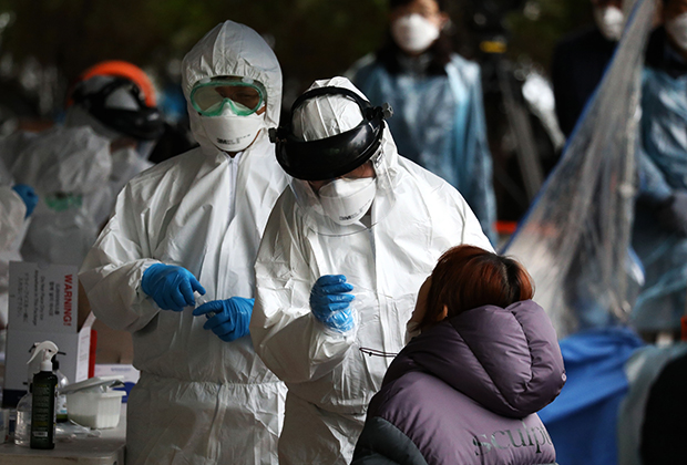 Тестирование на коронавирус в Южной Корее