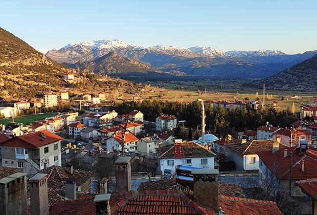Вид на горы в Турции