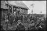Выступление партизан. Ленинградская область, 1941 год.