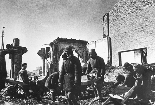 Разрушенный Курск, 1946 год