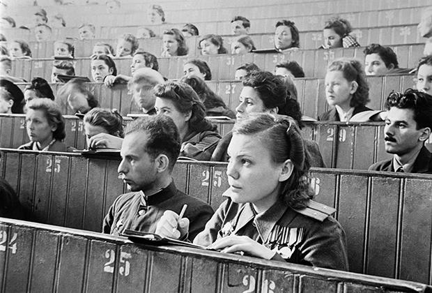 Первая после окончания войны лекция в МГУ. 1 сентября 1945 года
