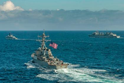 ВМС США показали корабли НАТО около границ России