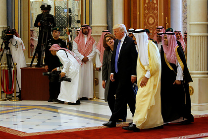 Дональд Трамп и Сальман Бен Абдель Азиз Аль Сауд