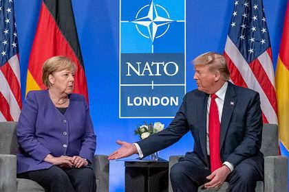 Трамп обсудил с Меркель годовщину Победы