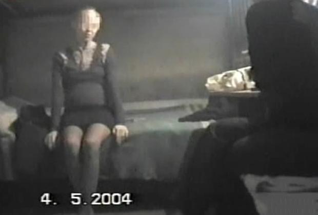 Беременная Елена Самохина на кадрах оперативной съемки