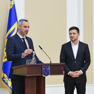 Руслан Рябошапка и Владимир Зеленский