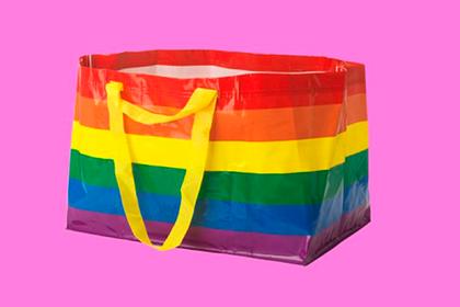 Фирменная синяя сумка IKEA сменила цвет ради геев