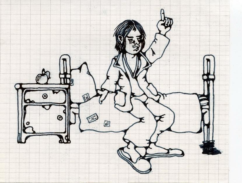 Автопортрет. Рисунок больного 6-го отделения ПБ N15