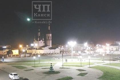 Падение метеорита в российском регионе попало на видео