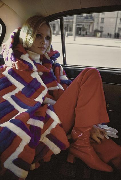 Галина Миловская на съемках для журнала Vogue, 1969 год