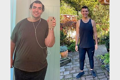 190-килограммовый студент сбросил половину веса за полтора года