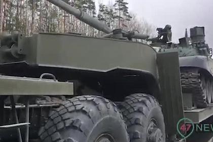 Танк «Белый орел» сняли на видео вблизи
