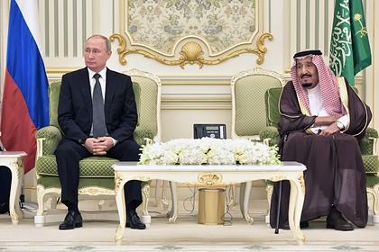 Владимир Путин и Сальман бен Абдель Азиз аль Сауд