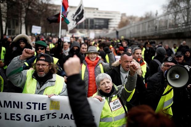 Акция протеста «желтых жилетов»