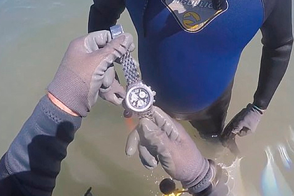 Охотники за сокровищами нашли на дне моря драгоценные часы