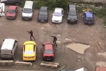 Перестрелка у жилого комплекса на Каширском шоссе попала на видео