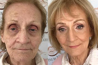 Спрятавший морщины макияж 80-летней пенсионерки поразил пользователей сети