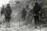 Заключенные Сороко-Обозерского ИТЛ (Сорокского исправительно-трудового лагеря— Сороклага) готовят площадку для железнодорожных путей. Управление Сороклага сначала дислоцировалось в городе Беломорске (до 11 сентября 1938 года — село Сорока). Лагерь действовал с 7 мая 1938 года по 8 апреля 1942 года.