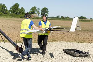 Летные испытания латвийского беспилотника «Пингвин»