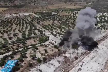 Взрыв турецкого конвоя в Сирии случайно сняли на видео