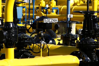 Поставки российского газа через Польшу упали до нуля