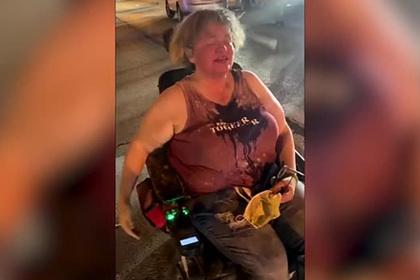 Бунтующие из-за смерти чернокожего напали на женщину в инвалидном кресле